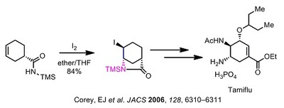 Corey tamiflu iodolactamization.jpg